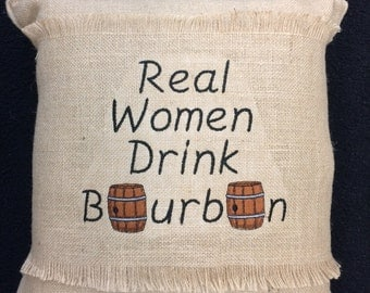Bourbon Burlap Pillow