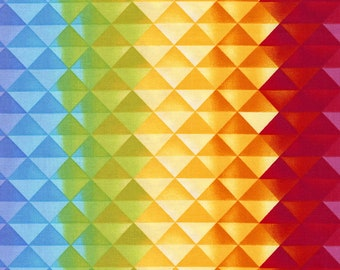 Prism Gradient Fabric Fat Quarter, Third Yard, Half Yard, or By The Yard; C5389; Timeless Treasures; Prism; Geometric; Chong-a Hwang