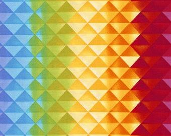 Prism Gradient Fabric Fat Quarter, Third Yard, Half Yard, or By The Yard; C5389; Timeless Treasures; Prism; Geometric; Chong-a Hwang