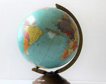 Vintage Replogle Globes 10 inch reference globe, cottage décor, travel décor
