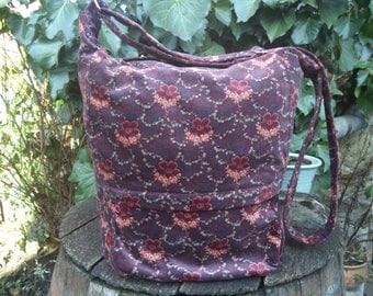 Floral messenger bag,zippered big bag