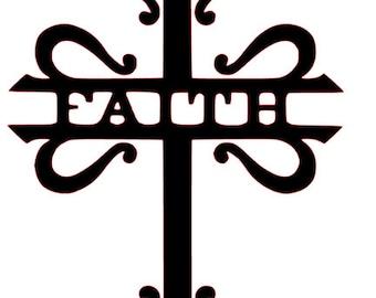 Faith Cross SVG File