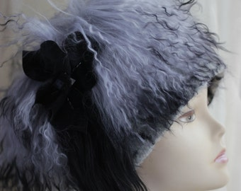 Handmade fur hats Unique fur Hats winter Hat millinery hat womens hats trendy winter fashion Kubanka llama fur Women's Fur Hat Handmade hats
