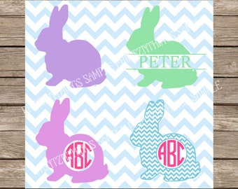 Easter Bunny svg Easter svg Rabbit svg Easter Bunnies Monogram svg files cut file cutting file silhouette cameo cricut heat transfer