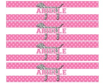 PINK/Victoria Secret themed party water bottle labels