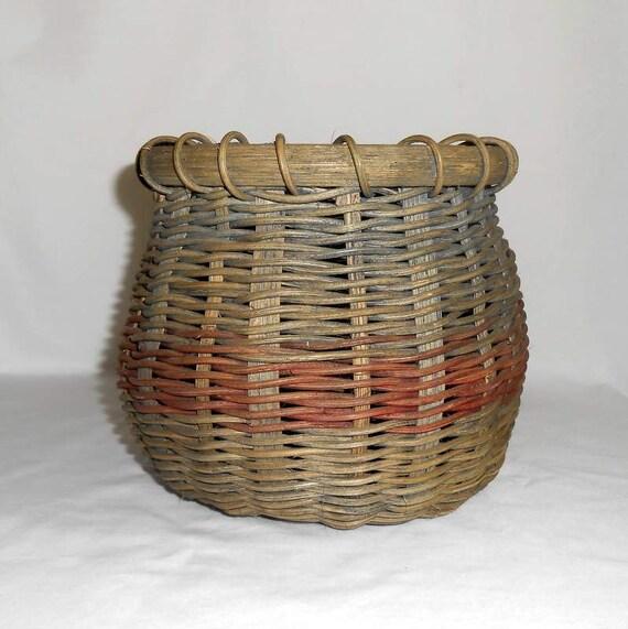 Woven Wicker Standing Basket
