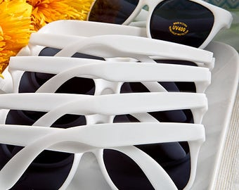 Personalized White Sunglasses - Beach Wedding Bridal Shower Favor 50-200 Qty  6777