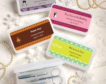 Personalized Travel Manicure Kit Wedding Bridal Shower Favor 30-75 Qty  FC6753