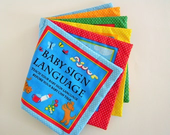 Baby Sign Language Fabric Storybook Children Storybook Cloth Storybook Personalized Gift