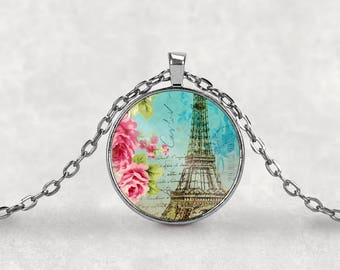 Eiffel Tower•Paris Necklace•Paris•Paris Jewelry•Eiffel Tower Jewelry•Eiffel Tower Charm•Eiffel Tower Pendant•Paris Charm•Romance•Keyring