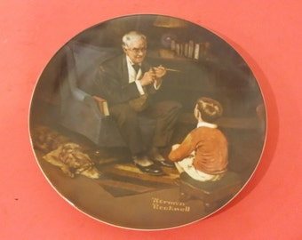 """Vintage Norman Rockwell """"THE TYCOON"""" Collector Plate, 1982"""