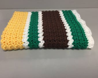 Ready to Ship, Crochet Baby Blanket, Yellow and Green Baby Blanket, Baby Shower Gift