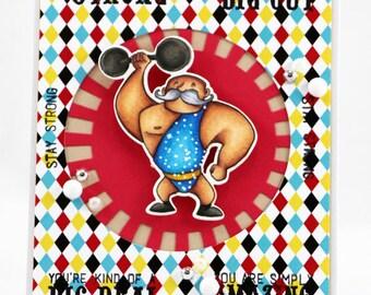 Strong Man Circus card