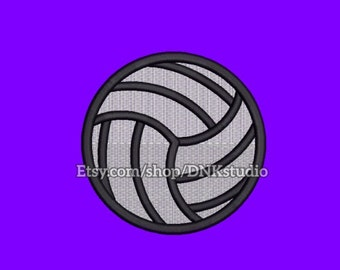 Volleyball Embroidery Design - 5 Sizes - INSTANT DOWNLOAD