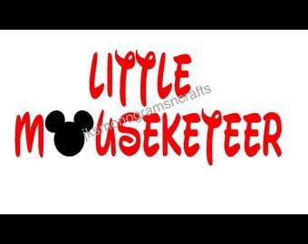 Little Mouseketeer cut file// disney shirt//disney mousketeer boy//little boy disney