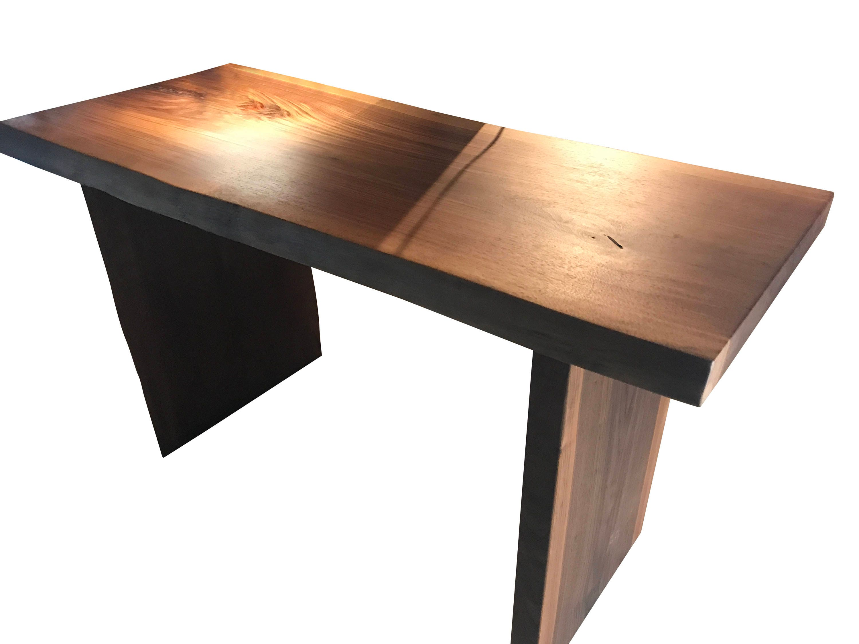 Live Edge Walnut desk, wood desk table, home office desk, walnut table,