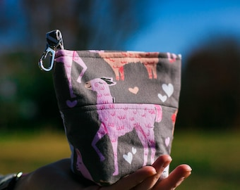 Pooch Pouch Accessory Leash Bag for Dog Waste Bags in Pink Packmates