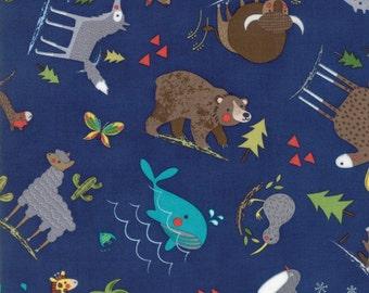 Hello World by Abi Hall for Moda Fabrics. Yardage Wild Things 35301 18