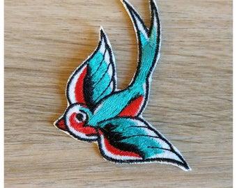 Coat of arms Patch interfacing bird swallow 5 X 7cm