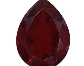 Blazing Red Quartz Triplet Loose Gemstone Pear Cut 1A Quality 16x12mm TGW 7.40 cts.