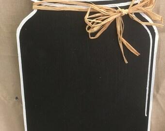 Mason Jar Chalkboard Wall Piece