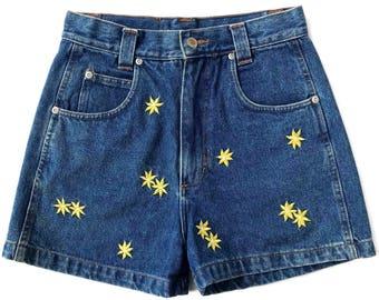 sALe 30% off 90's Swagger Jean Shorts Daisy High Waist Jean Shorts