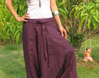 Harem Pants Women Baggy Pants Aladdin Yoga Pants Harem Baggy Pants Men Gypsy Pants Harem Boho Pants * HL - violet