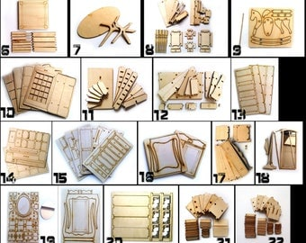 Details of furniture for dolls 1/6, 1/4, 1/3 (chair,Shelf-window,Dressing table,and so on)BJD, SD, MSD, momoko, blythe, barbie, azone