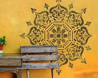 BUKHARA Stencil - Mandala Indian Wall Furniture Floor Craft Stencil BUKH01