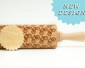 Rolling Pin BIKE BiCYCLE - Embossing rolling pin, unique gift for baking DIRT BIKE pattern *** Valentines gift ***