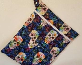 1 Eco Friendly RTS Large Double Pocket Wet/Dry Bag, Snack Bag, Gift Bag, Swimming Bag, Diaper Bag