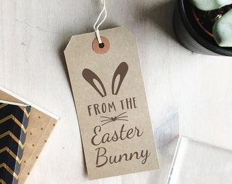From The Easter Bunny Stamp   Happy Easter Stamp - Easter Gift Tags - Easter Cards