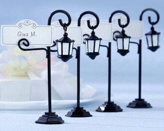 20 pcs Street Lamp Place Card Holders | Table card holders | Woodland wedding decors | Rustic wedding| Name card holders