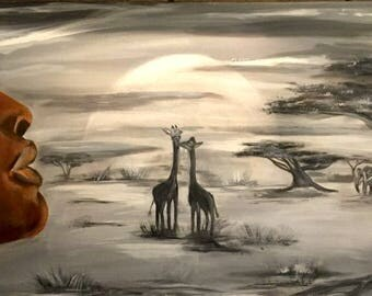 African dreams, original painting, unique piece