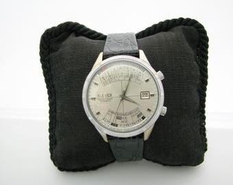 Vintage Men's 1970 Neuvex Perpetual Calendar Mechanical Watch