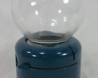 Vintage Junior bubble ball gum machine bank excellent blue
