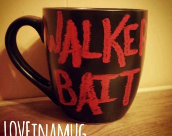 Zombies-Halloween-The Walking Dead-Walker Bait-Zombie Coffee Mug-Halloween Coffee Mug-Mug-Coffee Cup-Zombies