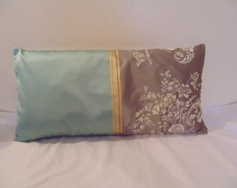 Designers Guild Fabric Silk Embroidery Emmeline Duck egg 1 Cushion Cover
