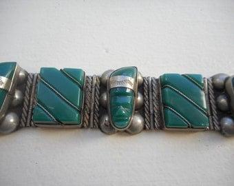Mexican Mask Silver Bracelet