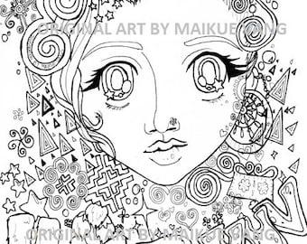 Haib Xuv Illustration (Black + White Ink)