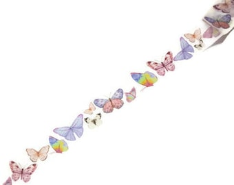 WASHI SAMPLE colorful butterflies on white background