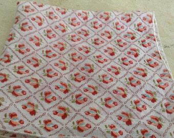 Vintage Rose Bud Handkerchief