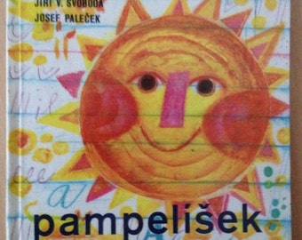 Czech childrens book Pampelisek by Jiri Svoboda, 1st edition