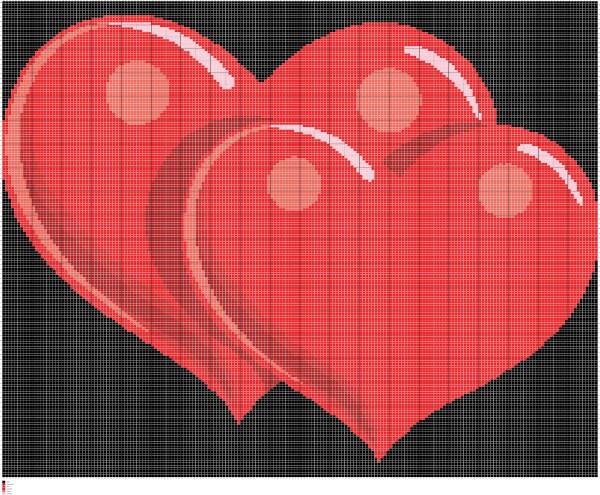 Knitting Heart Chart : Knit hearts chart intarsia knitting graph pattern