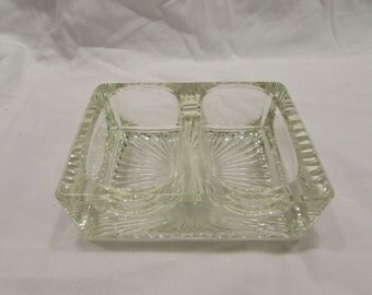 Salt Dip, Double, Solid Glass