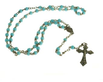 Turquoise Colored Roma Rosary