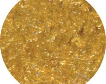 Edible Gold Glitter Flakes/Non Metallic Gold Edible Flakes 1 oz Bottle/Edible Soft Gold Course Flakes