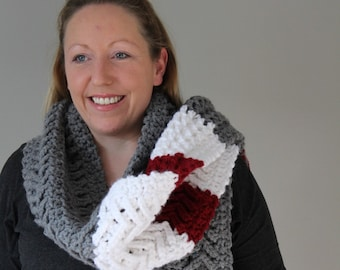 Sock Monkey Inspired Scarf, Wool Socks Colours - Ultra Chunky - Ready to Ship - Extra Long Scarf OOAK
