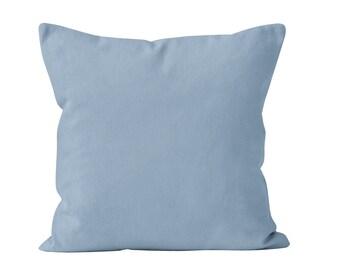 Pastel Blue Pillow Cover, Powder Blue Pillow Cover, Baby Blue Pillow Cover, French Blue Pillow Cover, Soft Pastel Blue Bedroom Decor