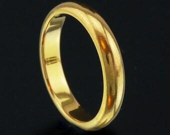 Vintage 22K Gold Wedding Band Ring size US 5.5, UK L (j701)